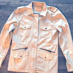 Lily Aldridge for Velvet military jacket